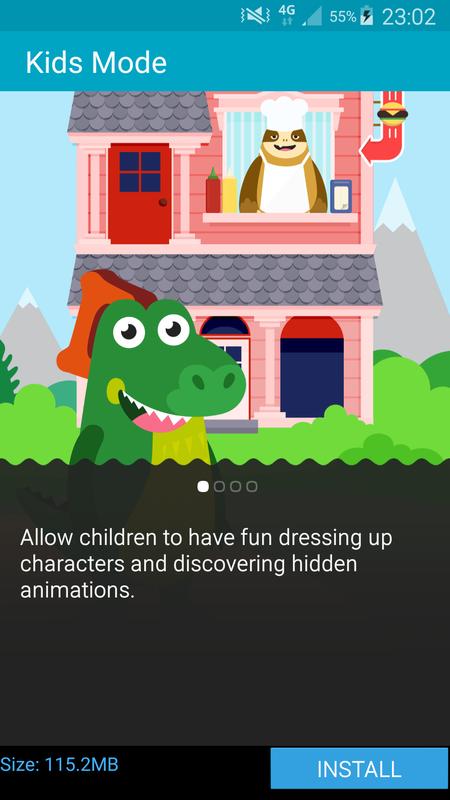Samsung Galaxy S6 Apps - Kids mode