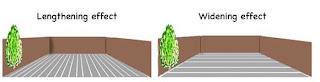 dispunere terasa pentru efect de marire