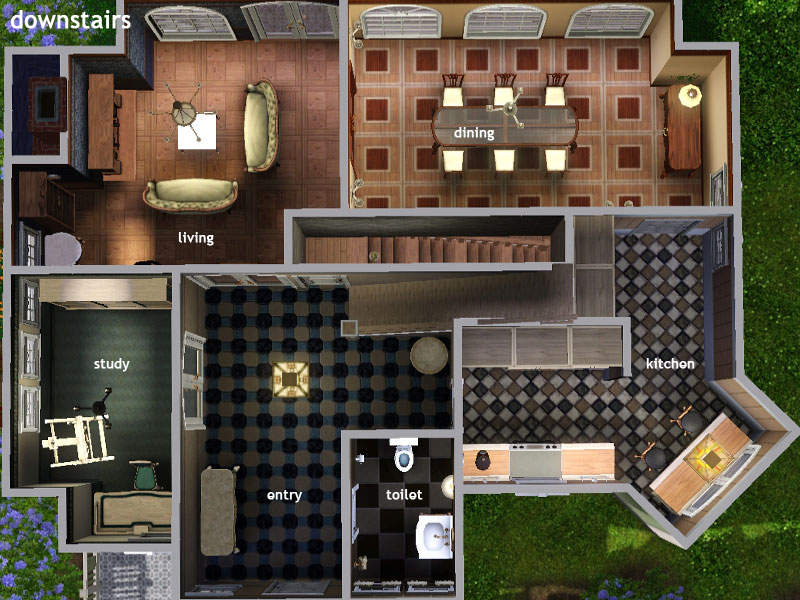 My sims 3 blog mibelle base game classic family home by for Classic house sims 4
