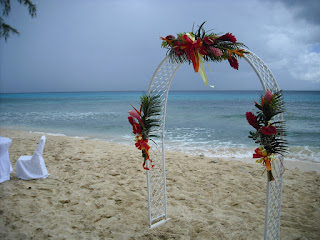 A shot of the 'altar' for our friend's wedding in Barbados