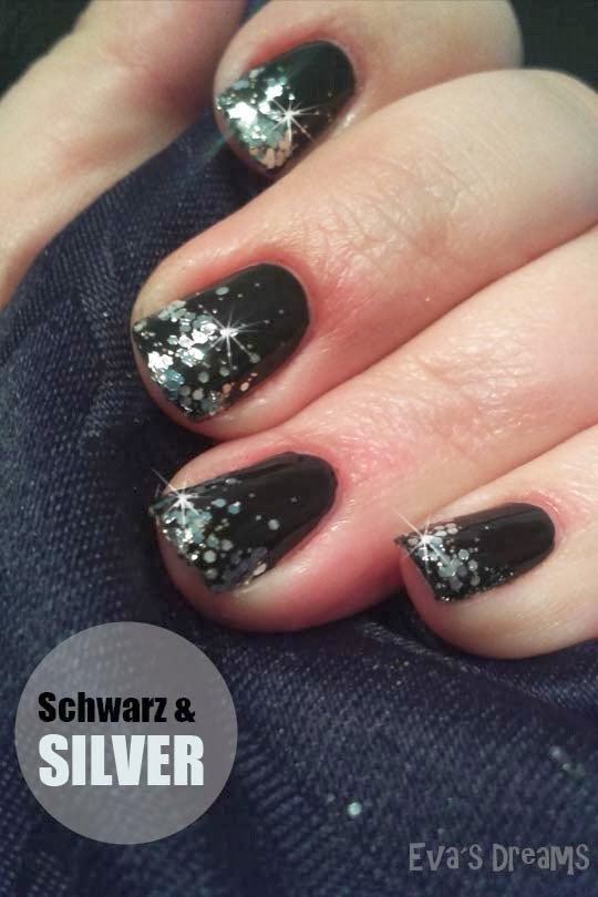 Nails of the week: Black+Silver (Catrice - two million dollar baby)