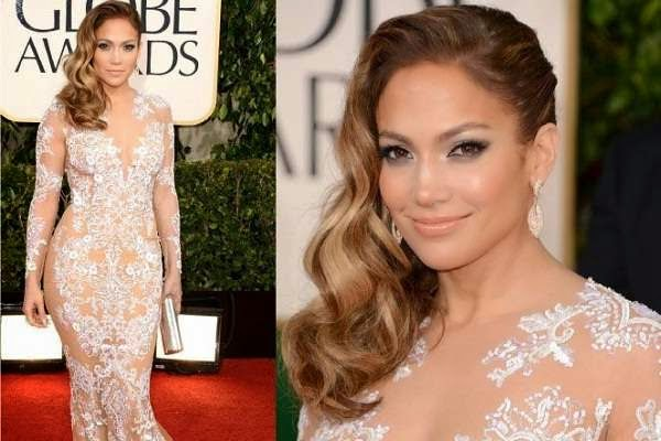 Jennifer Lopez at the 2013 Golden Globe Awards red carpet
