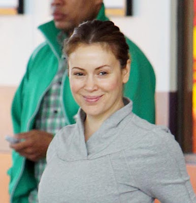 Photo of the friendly fun  Alyssa Milano from Brooklyn, United States without makeup