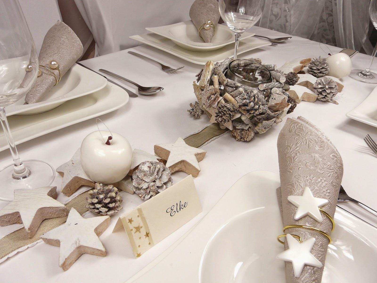 Tischdeko weihnachten natur  Tischdekoration, Mustertische und Hochzeitdeko - Tischdeko-online ...
