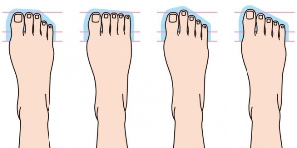 four different type of feet