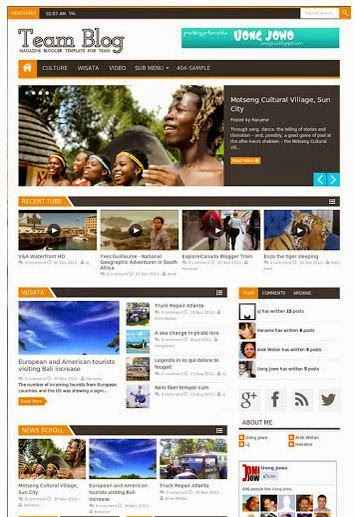 Team Blog - Responsive  Blogger Template