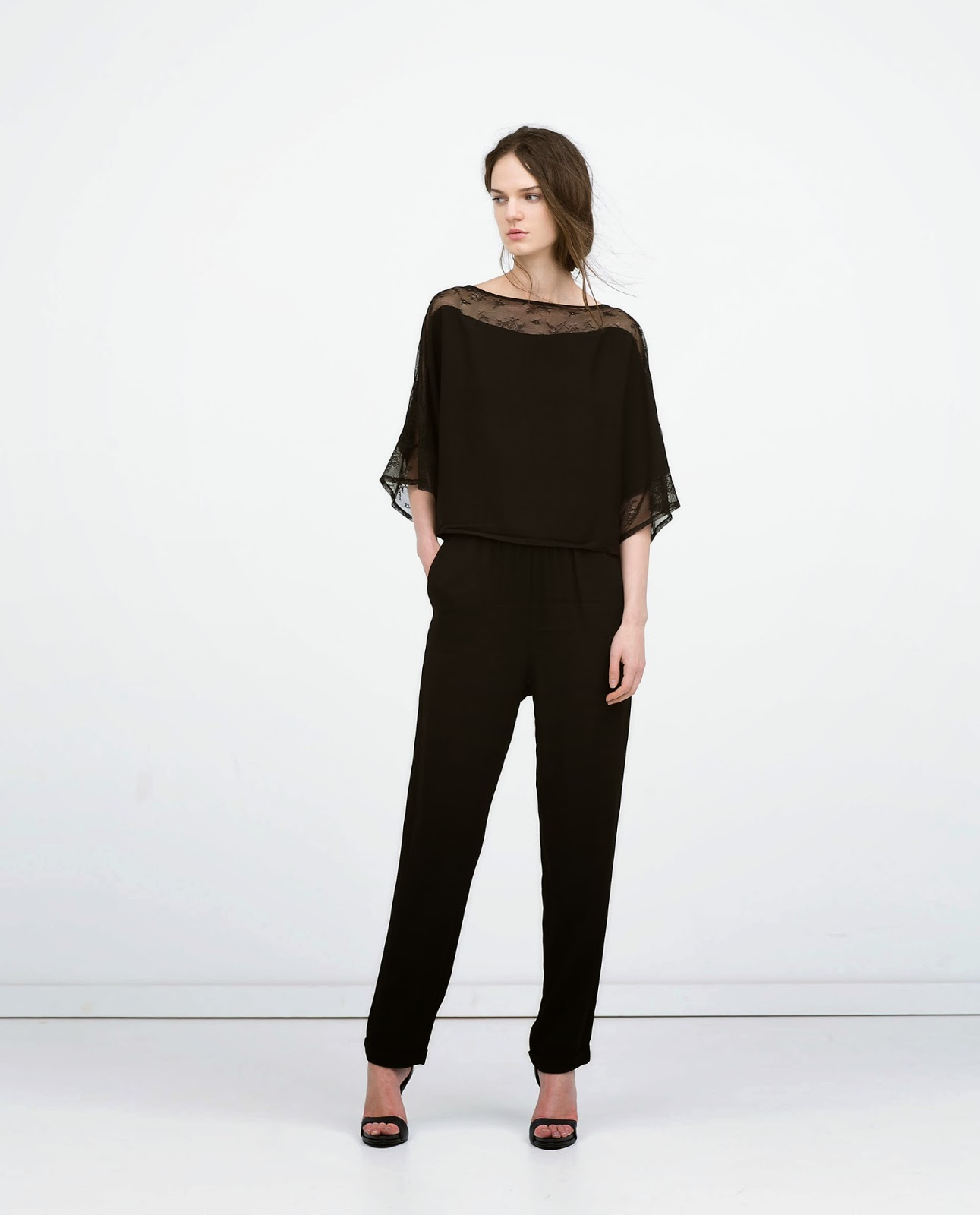 zara black jumpsuit,