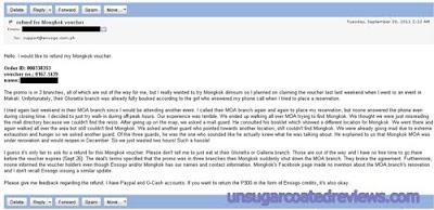 Ensogo refund email