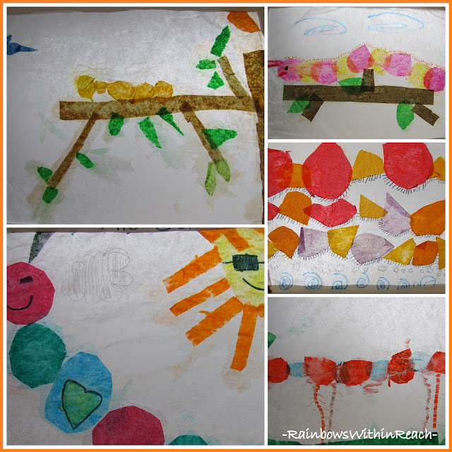photo of: First Grade Art Show Caterpillars on Parade