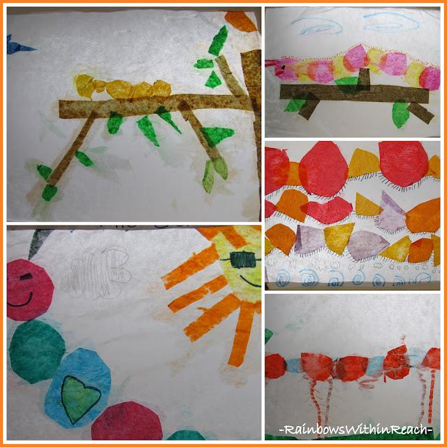 photo of: First Grade Art Show Caterpillars on Parade