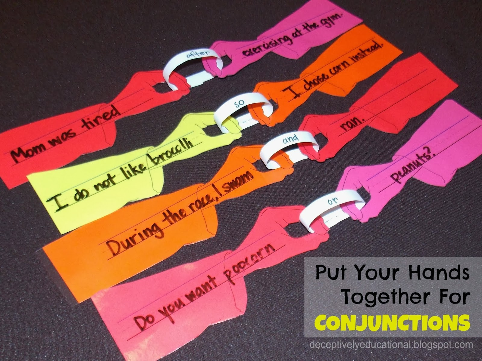 Learning About Conjunctions Free Printables And Ideas on Conjunctions Glue Words