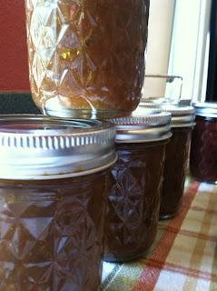 Ginger bread jam in ball jars