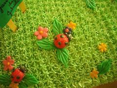 Detalhe do bolo jardim