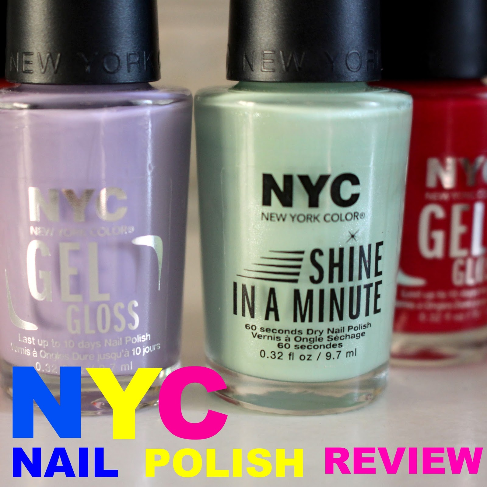 Happy thoughts & forget me nots: NYC Gel Gloss and Shine in a Minute ...