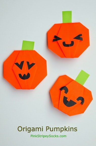How To Fold An Origami Jack O Lantern Pumpkin For Halloween