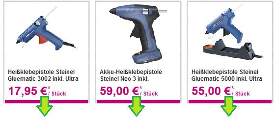wo Heißklebepistole kaufen vergleich Preis günstig