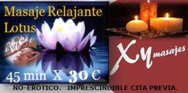 oferta masaje relajante Madrid
