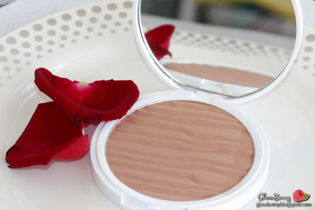 ברונזר ענק ללין עור בהיר סקירה review glossberry blog laline bronzer