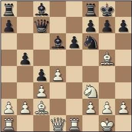 Partida de ajedrez Velat vs Cifuentes, Madrid 1950, posición después de 14.Ag5