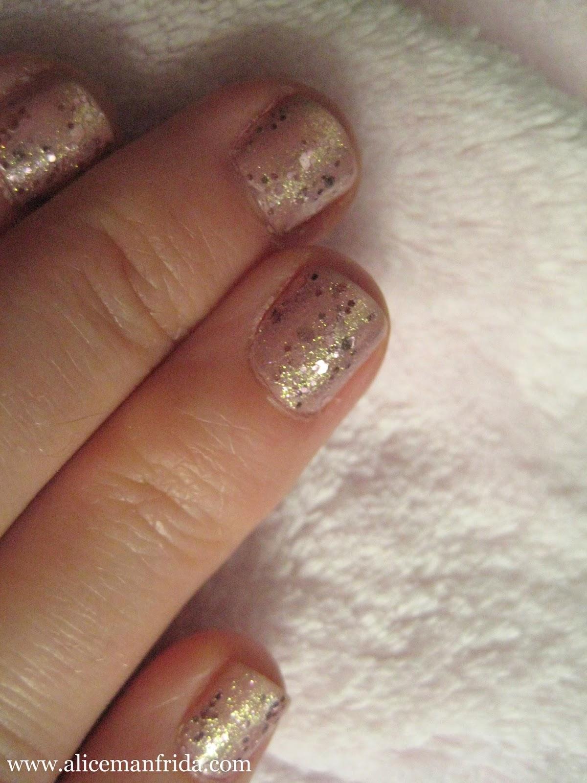 Milani, deborah lippmann, glitter, pink, nails, manicure