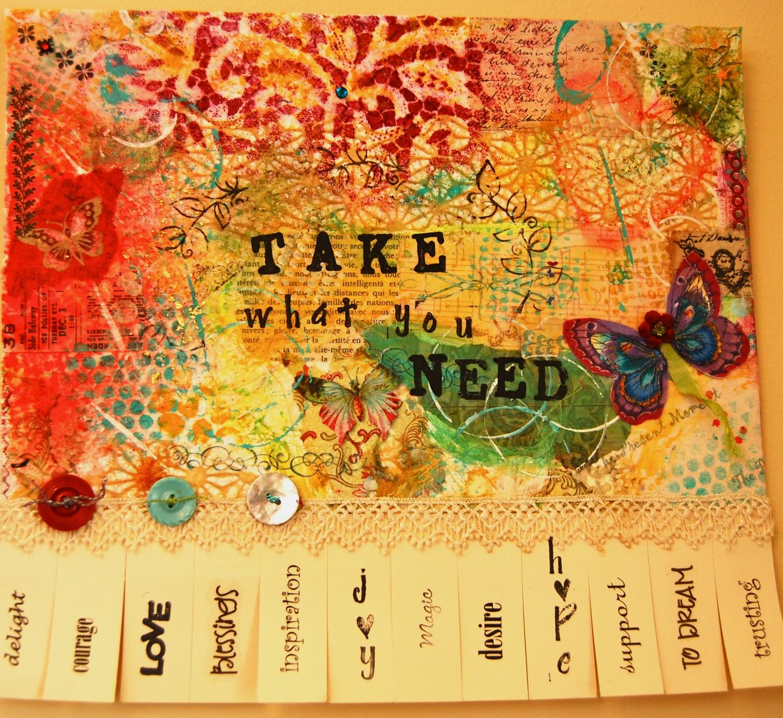 what we create: Take What You NEED