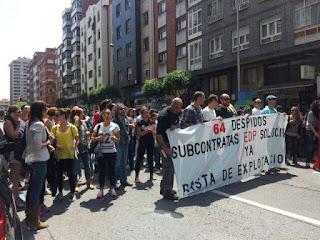 Éxito total en la huelga de SOMOS sindicalistas Unisono Gijón (Subcontrata EDP)