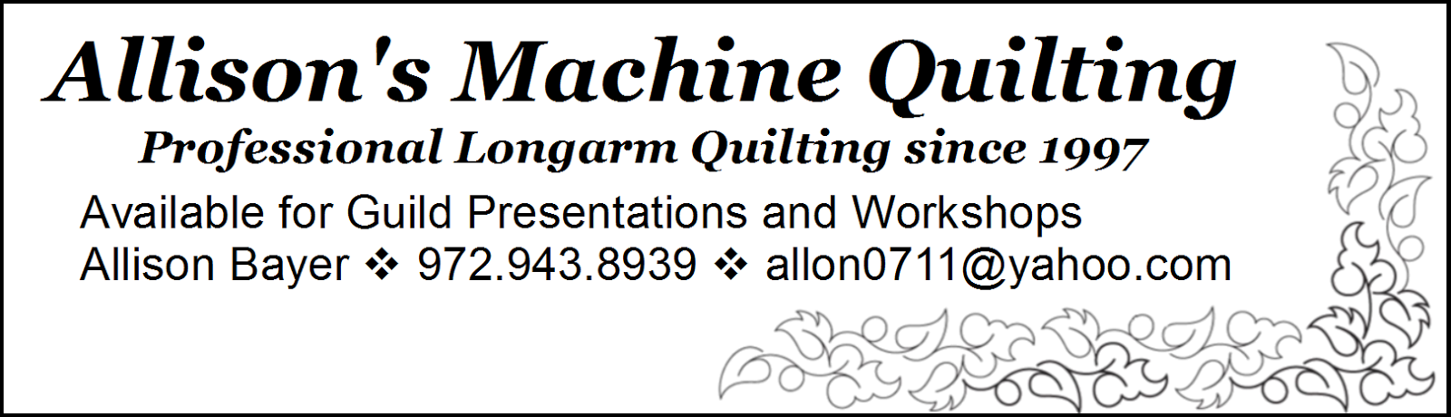 Allison's Machine Quilting
