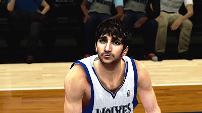NBA 2K13 Ricky Rubio Cyberface Mod