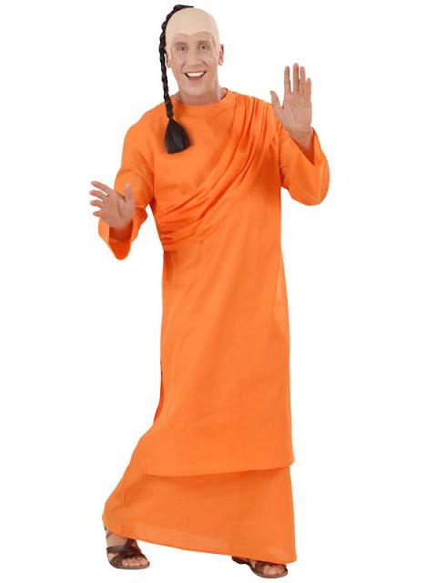 udklædt som hare krishna medlem