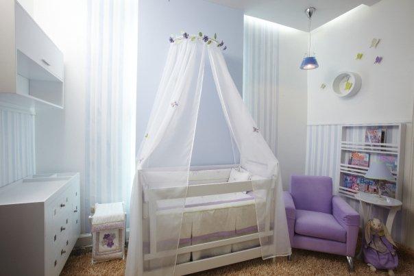 Dormitorio para bebes en blanco cama cuna blanco habitacion para bebes en blanco - Como decorar habitaciones para bebes ...