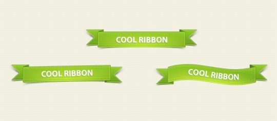 Green+Ribbons+PSD+Pack