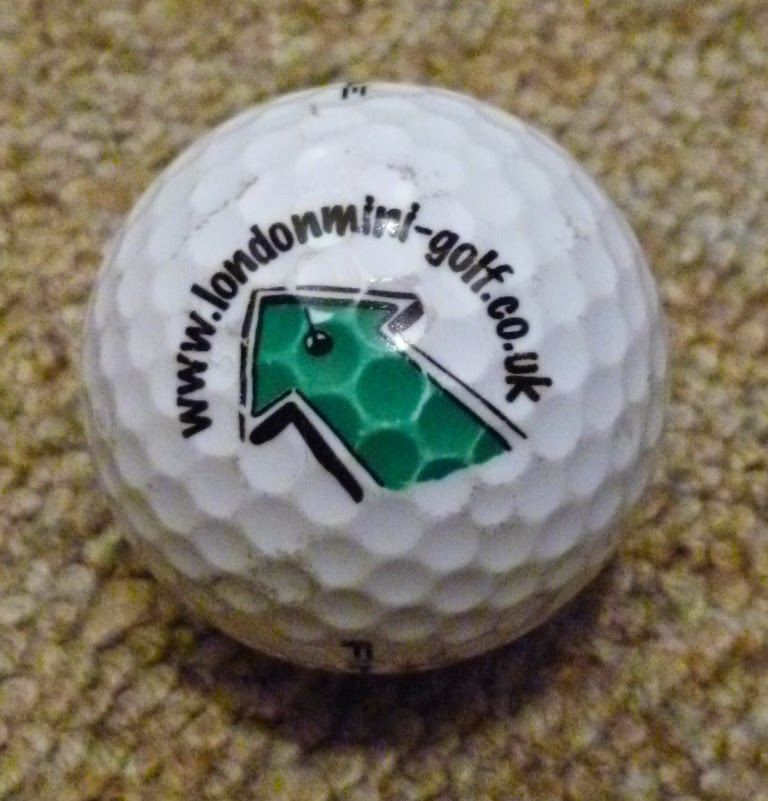 A ball from the mini-golf course that was in Devonshire Square, London in 2009
