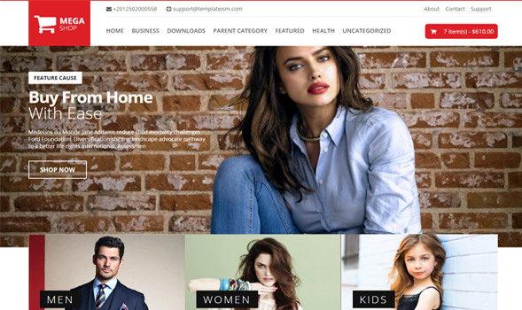 Mega shop ecommerce responsive blogger template
