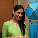 Kareena Kapoor Beautiful In Green Dress With Diwali Lantern and Diya Thali