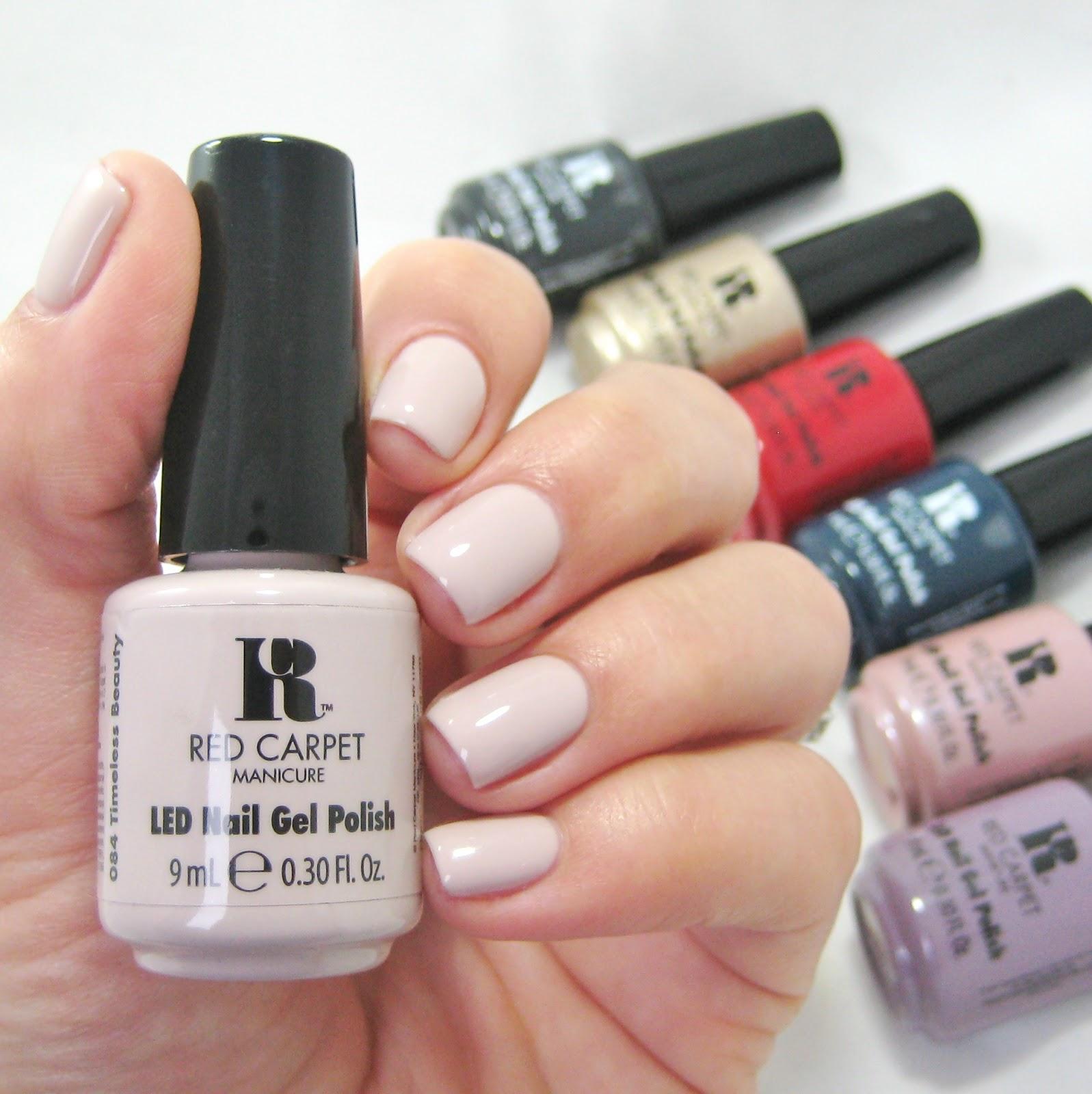Gel Nail Polish Qualification: Dahlia Nails: Red Carpet Manicure DIY Gel Manicure
