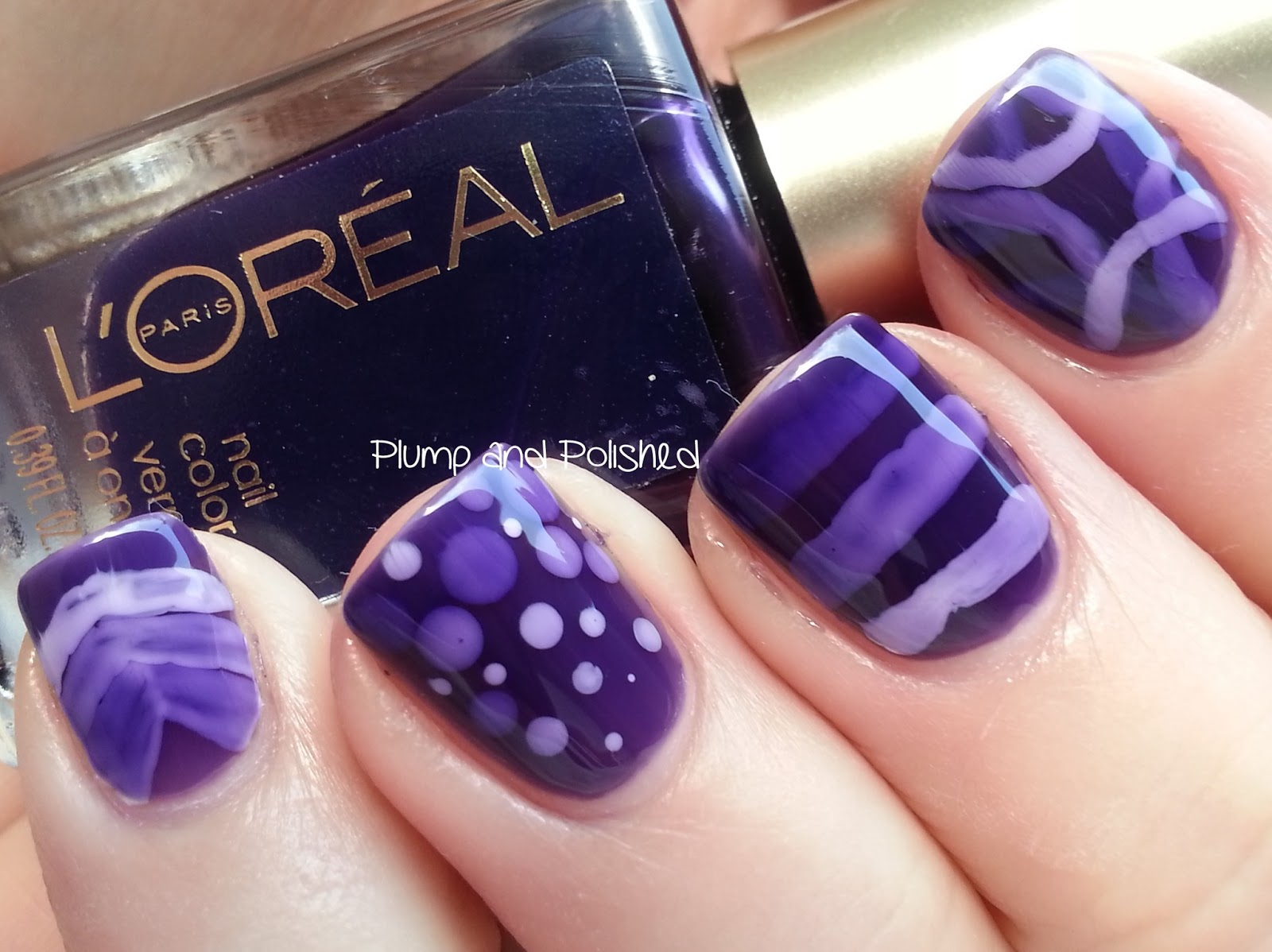 Plump and Polished: L\'Oreal - Berry Nice and a Jelly Nail Art Sandwich