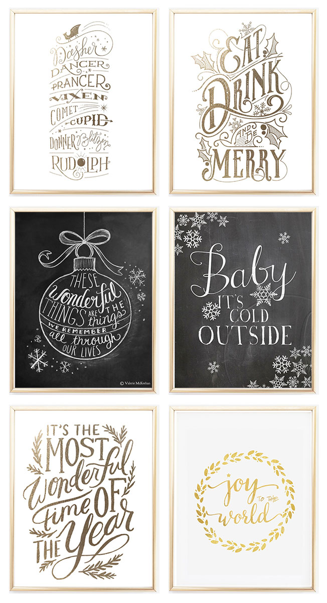 6 Festive Prints to Frame this Christmas | Permanent Procrastination