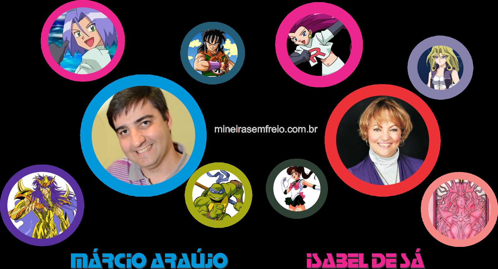 Márcio Araújo e Isabel de Sá dubladores confirmados na Convenção Anime Otaku Sekai de Uberaba junho de 2014
