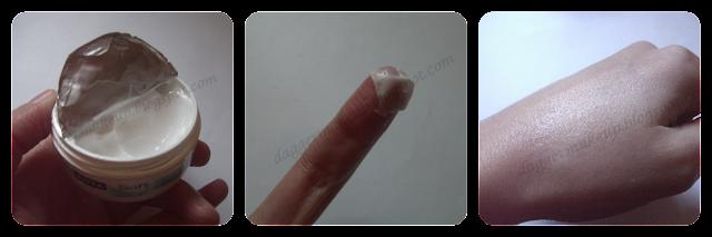 Textura de la crema Nivea Soft