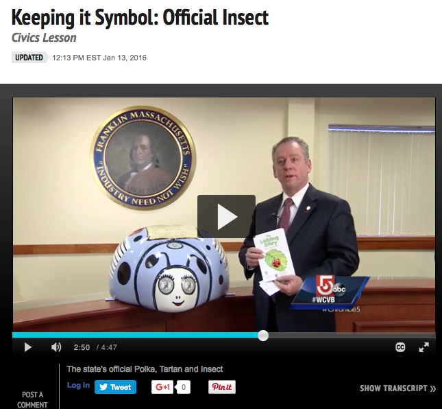 franklin downtown partnership ladybug story on wcvb s chronicle