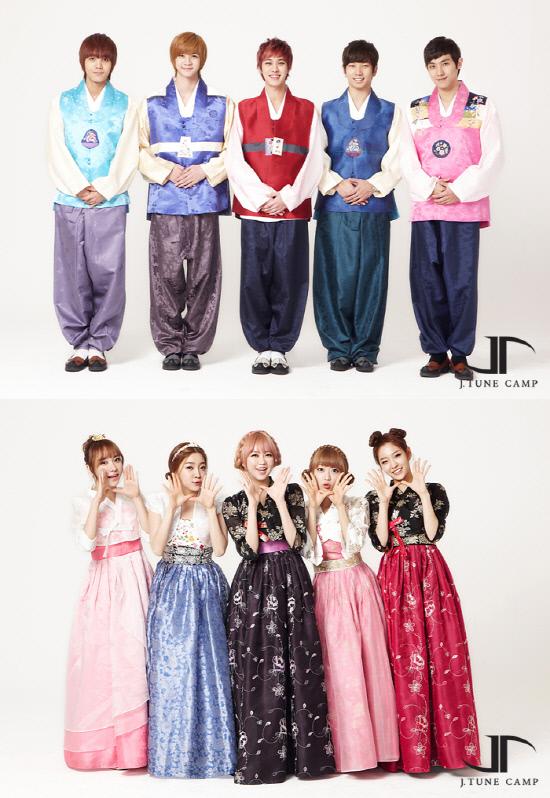 MBLAQ & Two X Hanbok