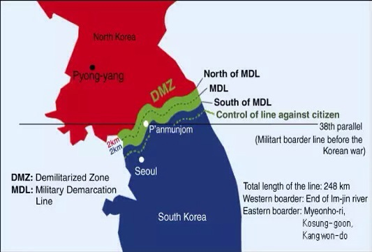 THE KOREAN DEMILITARIZED ZONE,  DMZ,   韓半島 非武裝地帶
