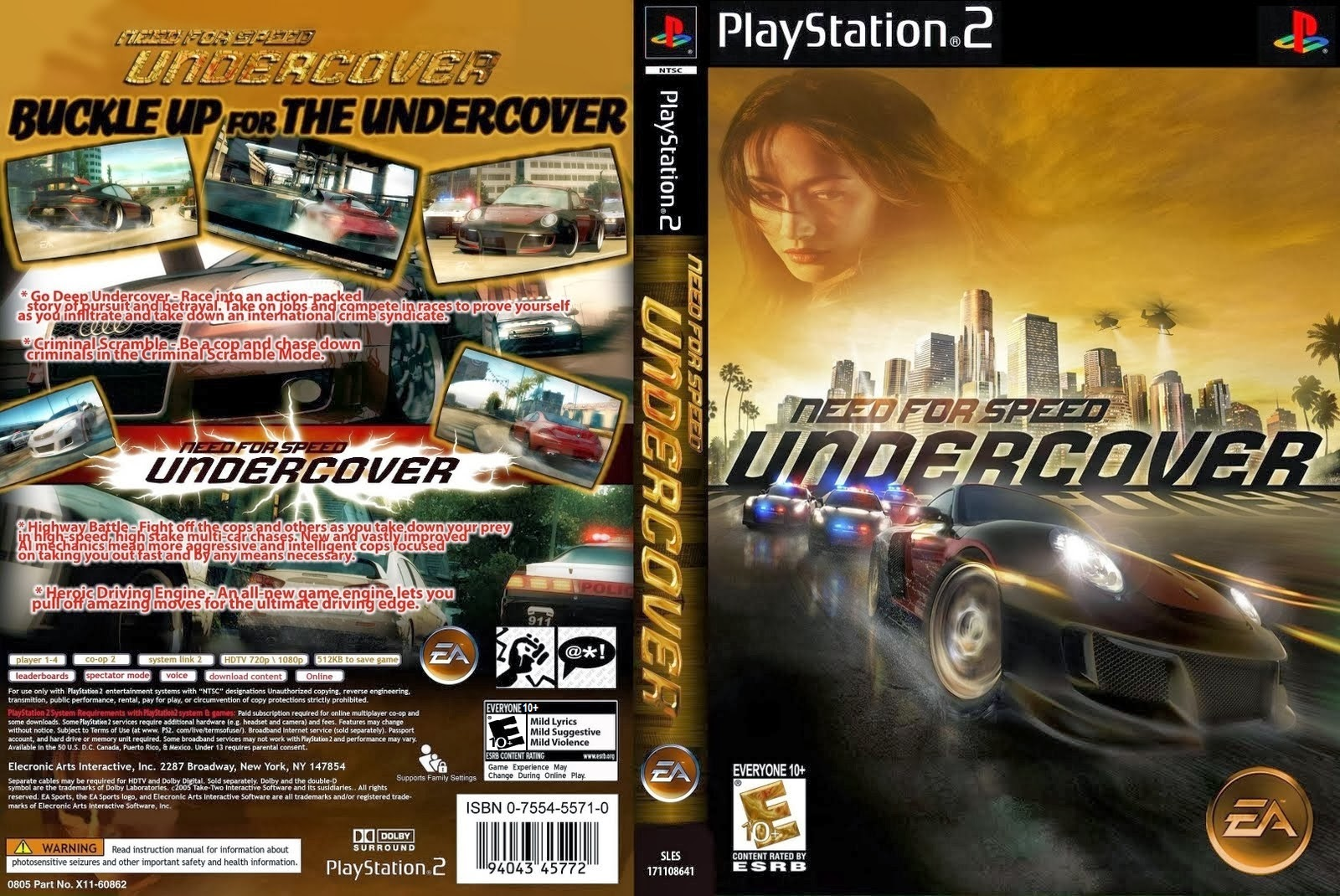 Need For Speed Undercover - Playstation 2 - Ultra Capas Ps2 Need For Speed