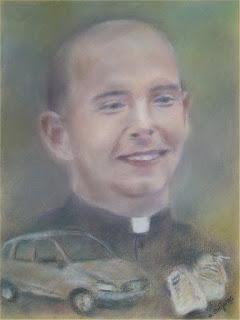 jest to portret karykaturalny wykonany na zamówienie przez Marka Strójwąsa przedstawiający jednego z pruszkowskich duszpasterzy