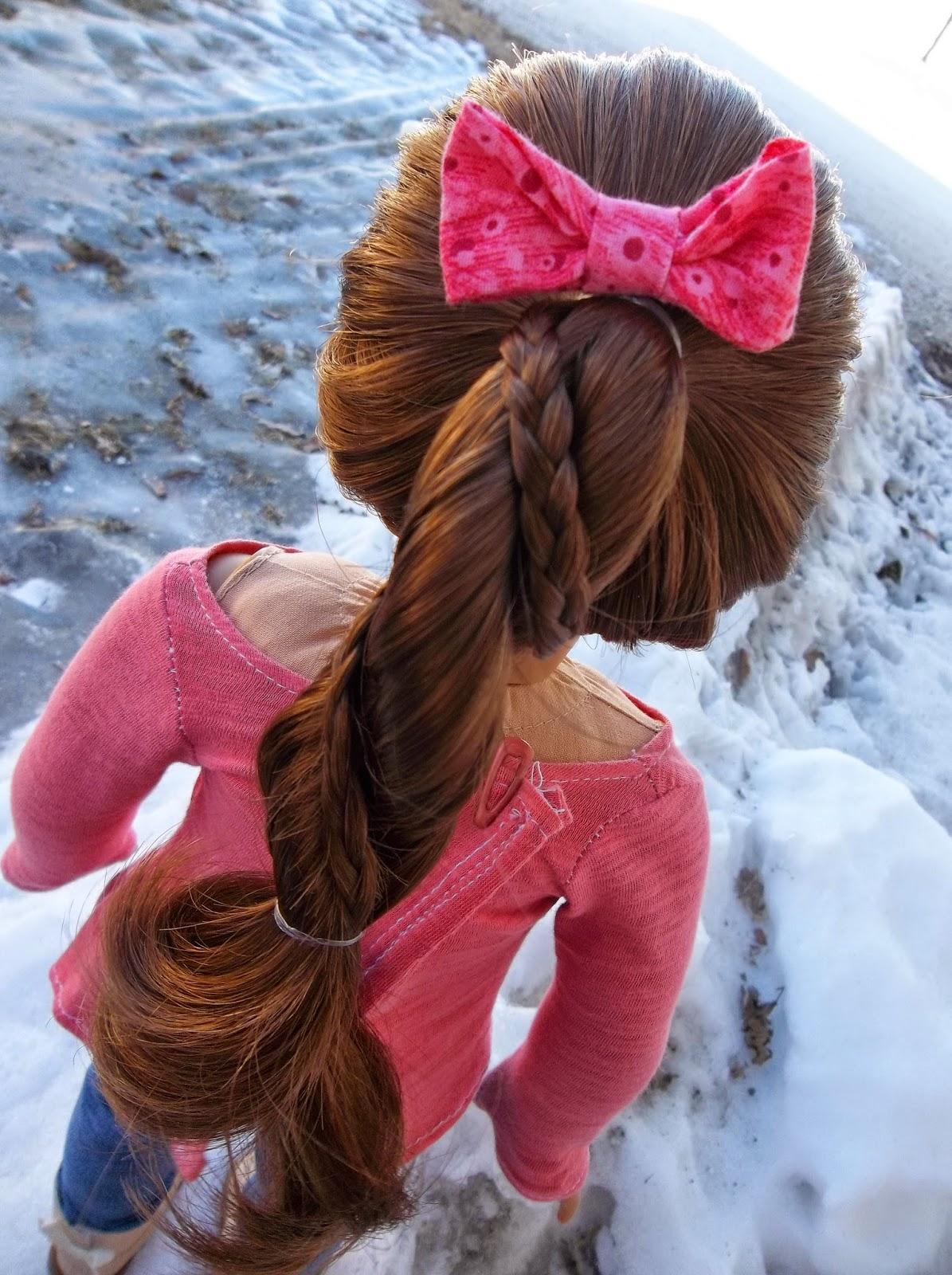 American Girl Place Braided Rope Braid ~ A Hair Tutorial