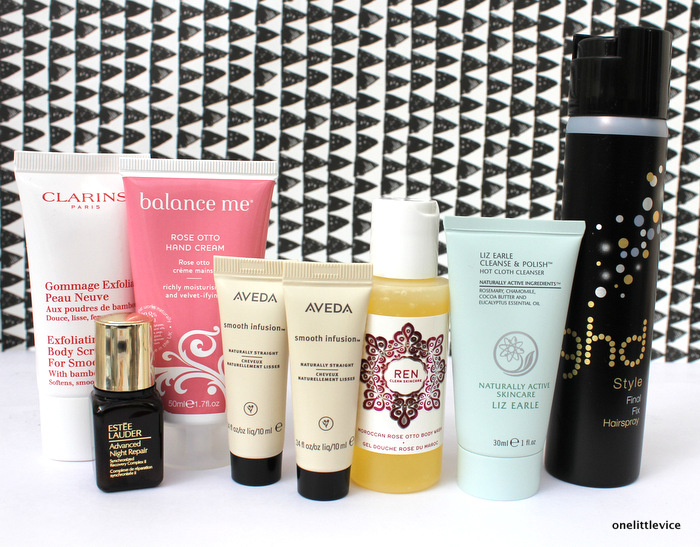 One Little Vice Beauty Blog: Mini Review Balance Me Rose Otto Ren Estee Lauder Advanced Night Repair