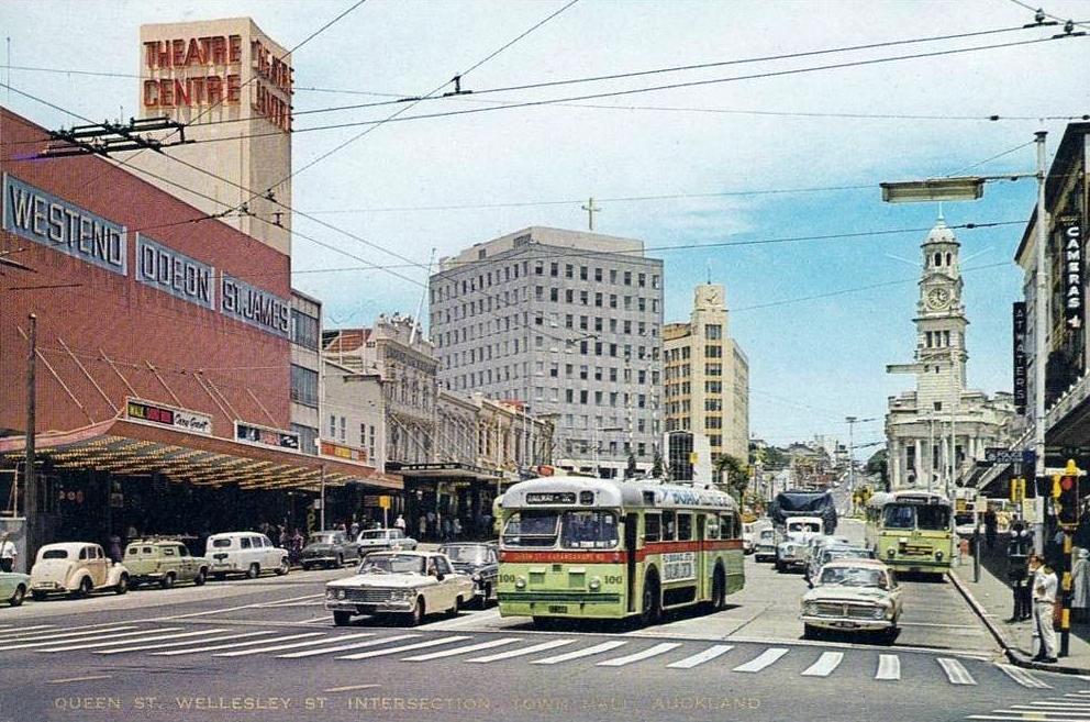 Transpress Nz Auckland Queen Street Trolley Bus 1960s