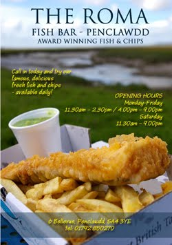 Roma, Fish &  Chips, Penclawdd