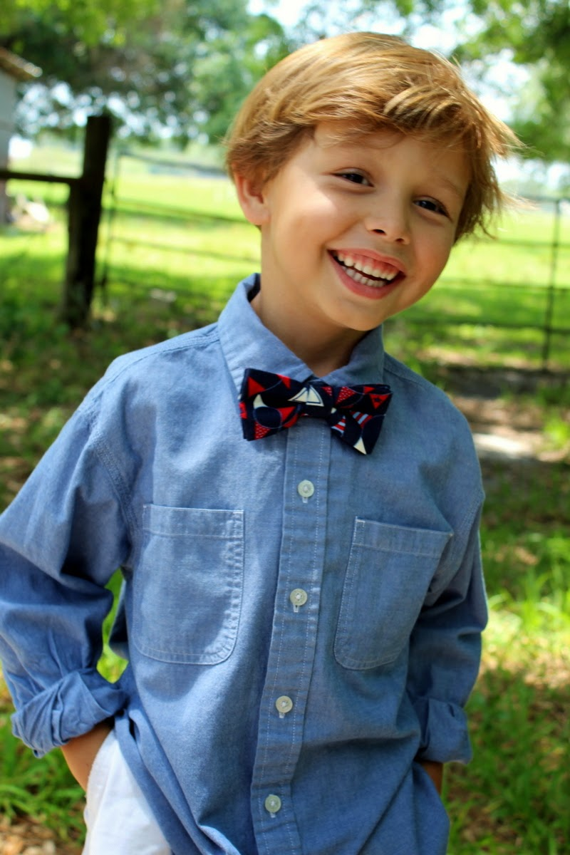 Patriotic, nautical fun pennant bow tie for men and boys, bowtie available now for summer!