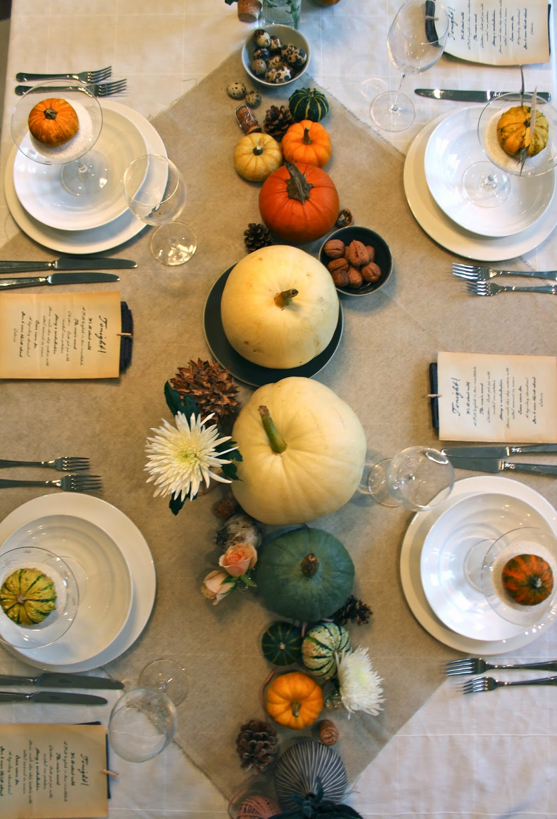Pumpkin Halloween Tablescape